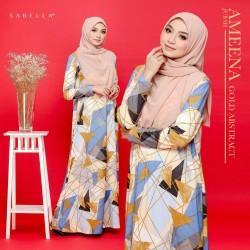 Jubah Ameena - Gold Abstract