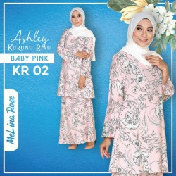 Ashley Kurung Riau - Baby Pink