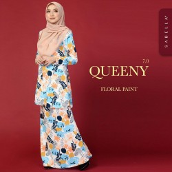 Kurung Queeny Floral Paint