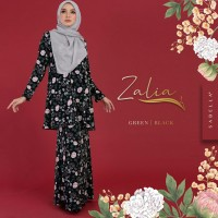 Kurung Zalia - Green Black