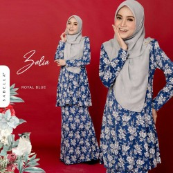 Kurung Zalia - Royal Blue